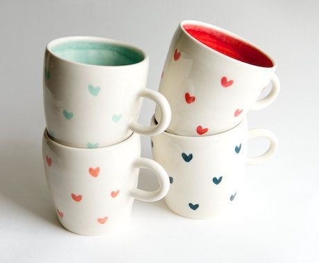 New Set Of 4 Coffee Cups