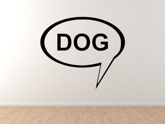 Dog 1 Doggy Pet Veterinary Care Puppy Training Wall Vinyl Decal