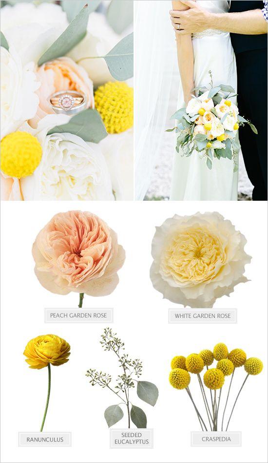 Garden wedding with a preppy vibe peach bouquet peach and flowers yellow and peach bouquet recipe weddingchicks mightylinksfo