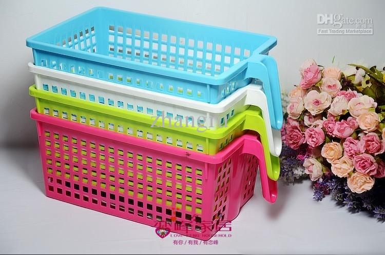 Plastic Storage Basket With Handle   These Are So Handy! They Have White  Ones At
