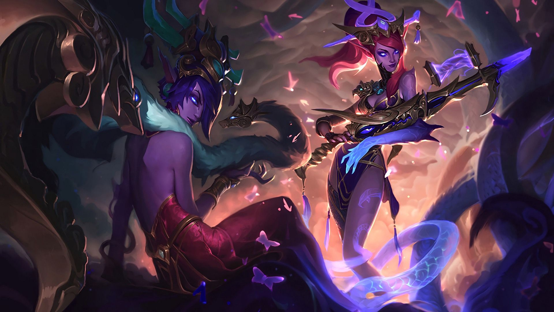 Download Wallpaper Lunar Wraith Caitlyn And Morgana Full Hd On