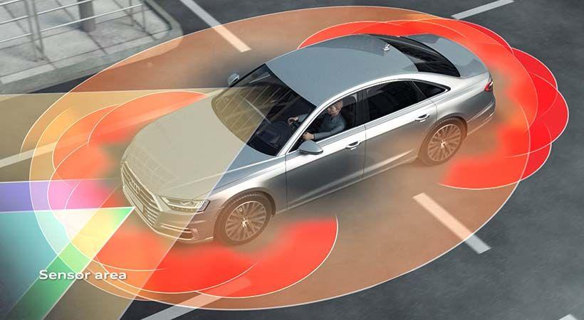 Visión periférica Audi A8 2018 gracias al escáner láser
