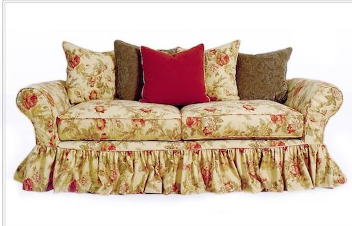 Slipcovered Sofa With Ruffle Skirt Upholstered Furniture