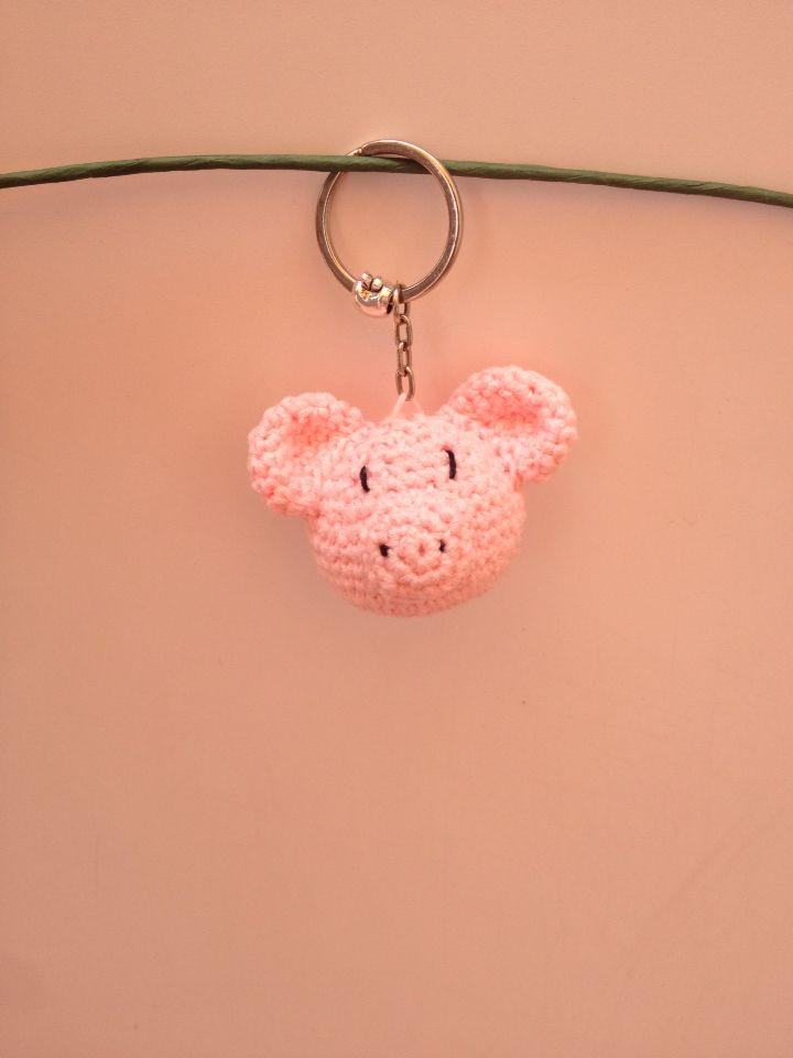 Llavero cerdito crochet amigurumi | Hecho por mi | Pinterest | Cerdo ...