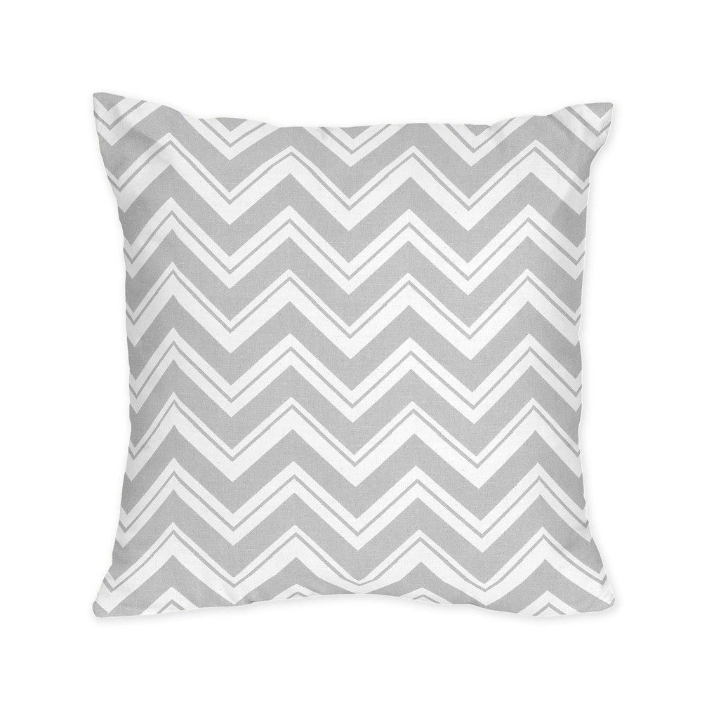 Sweet jojo designs grey chevron zigzag throw pillow black size