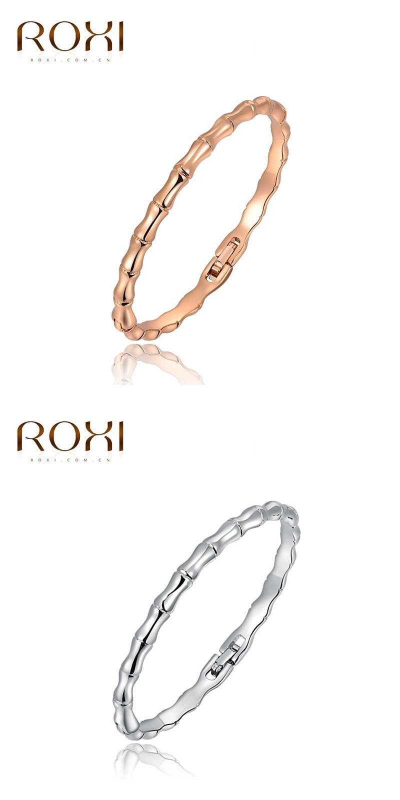 Visit to buy roxi gold girls bamboo braceletshigh quality silver