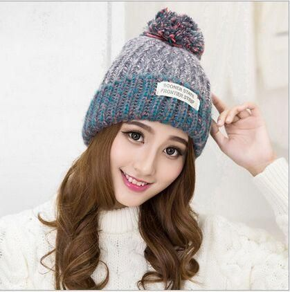 f0ef8be3281 Sooner State Frontier Strip Beanie Fashion Autumn   Winter Warm Knitted Pom  Ball Wool Ski Cap Casual Outdoor Womens Purple Cuffed Skully Hat