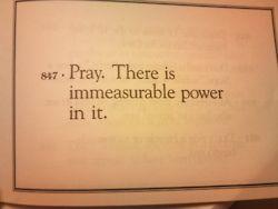 Don't underestimate prayer