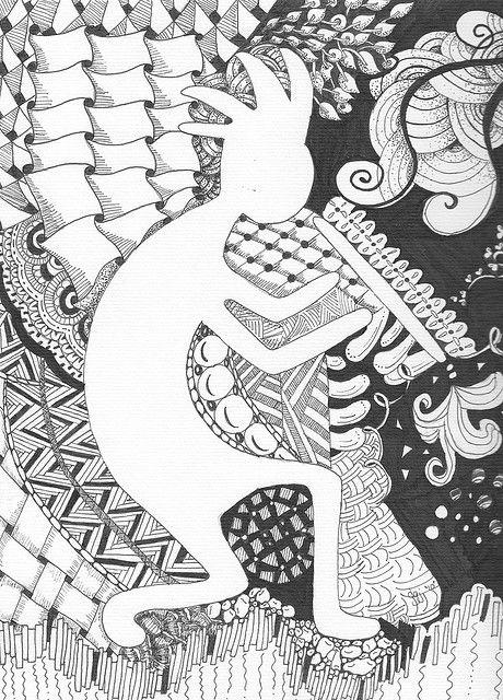 Kokopelli Pattern Art Native American Art Kokopelli