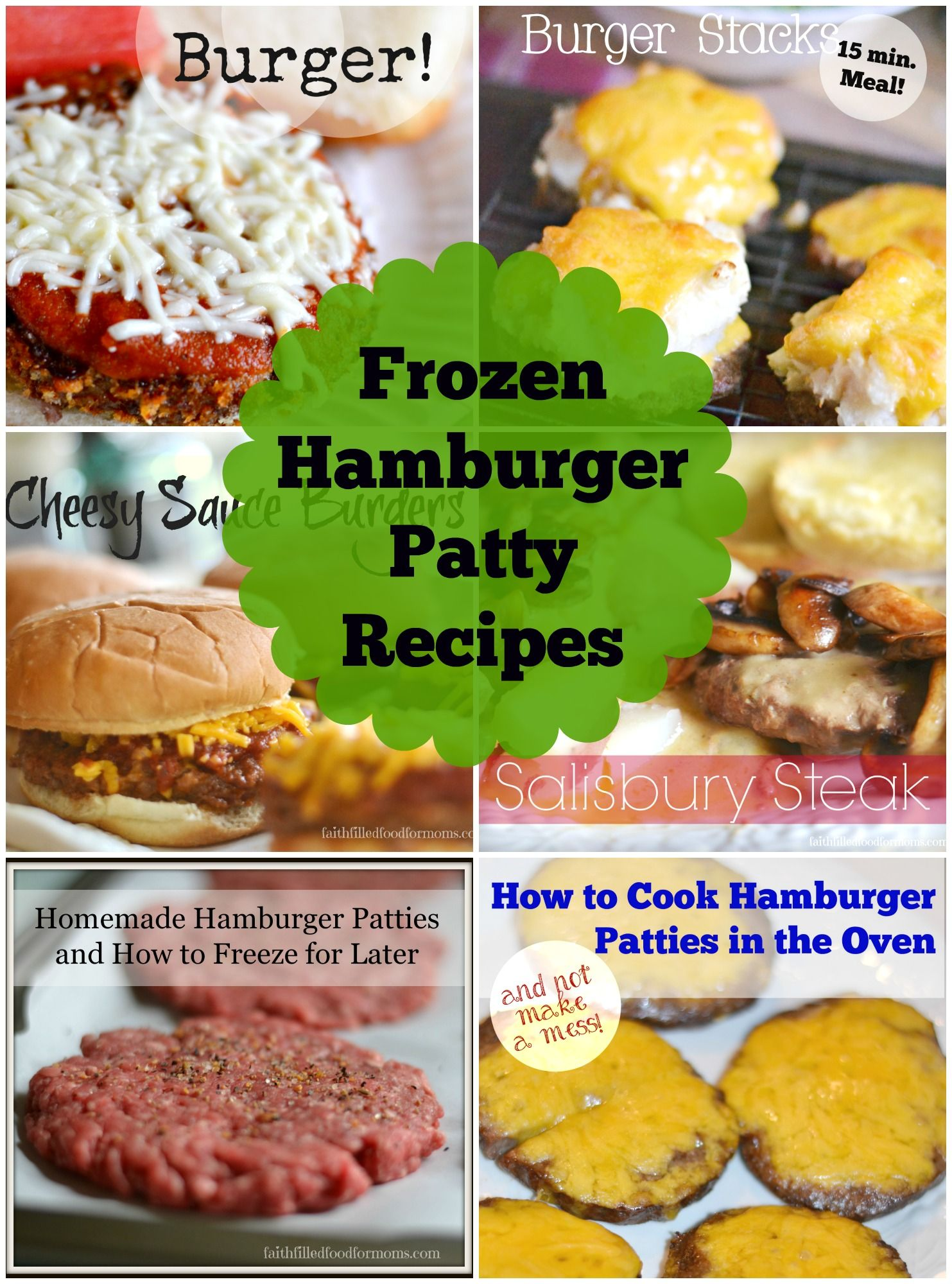 6 Easy Meals Using Frozen Hamburger Patties