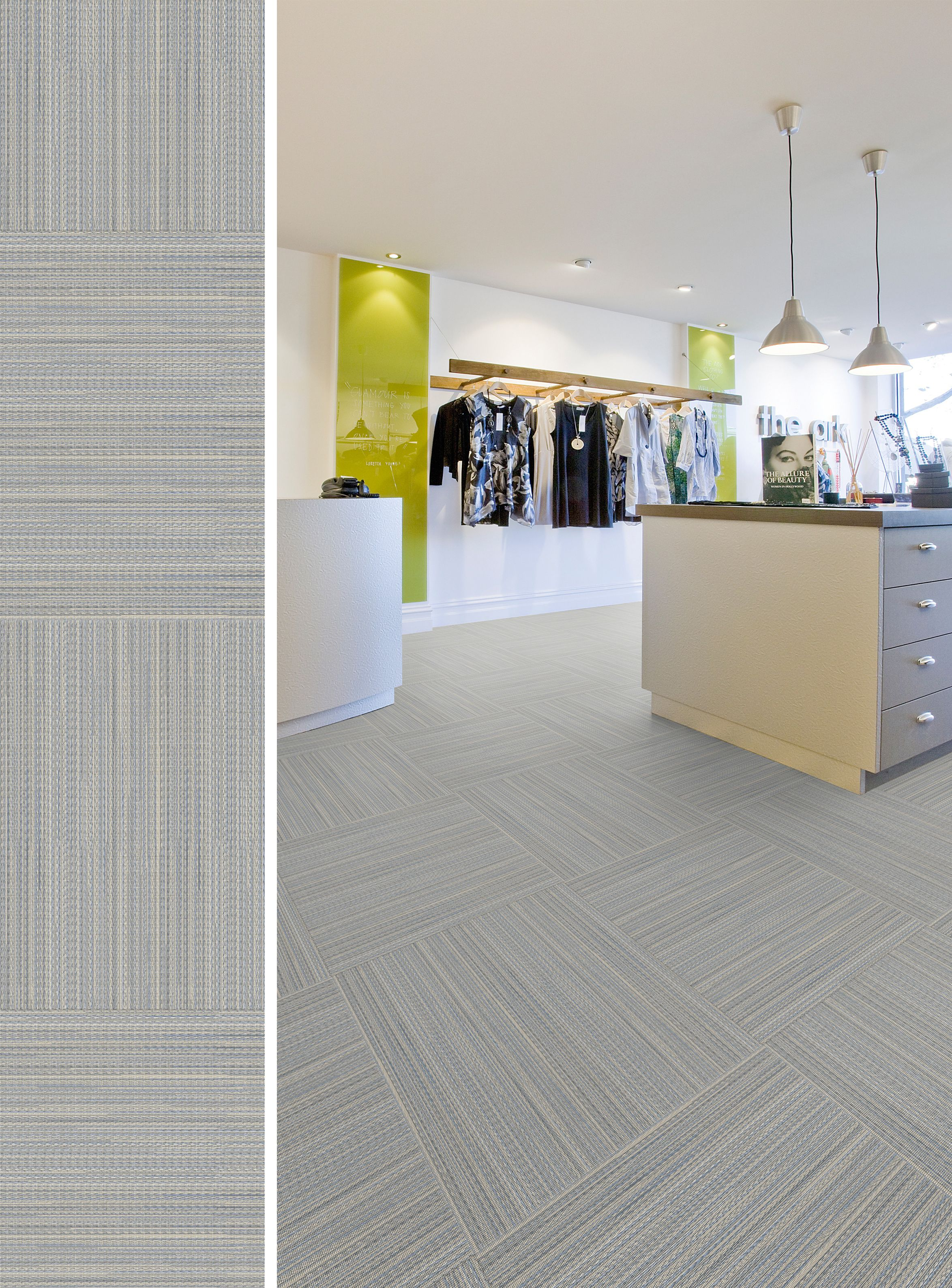 "It's time to experience our newest ""Ponto Cruz"" design, from our latest Creation 55 collection: the perfect #TextileEffect #Flooring solution to dress up your interior #myReference"