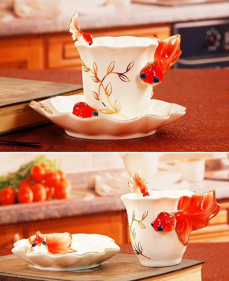 JINGDEZHEN Coffee Cup - Goldfish