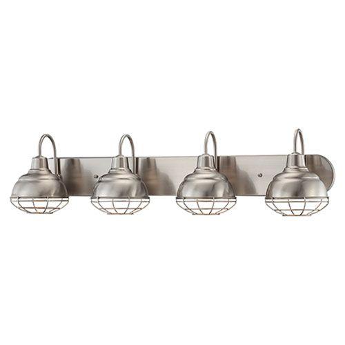 Millennium Lighting Neo-Industrial Satin Nickel 9 x 36.25-Inch ...