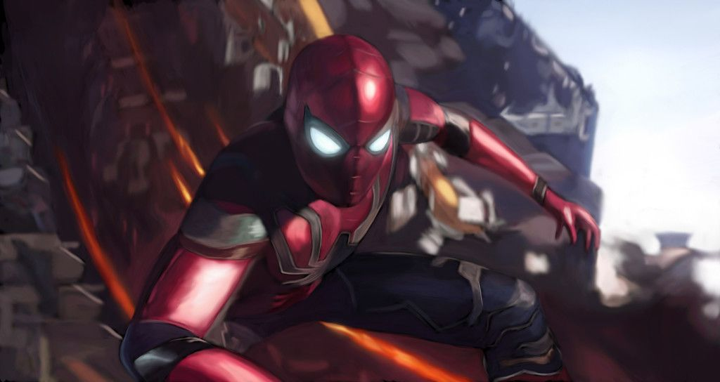 Spiderman New Suit Infinity War 2018 Movie 4k Wallpaper Amazing Spiderman Superhero Wallpaper Avengers Wallpaper
