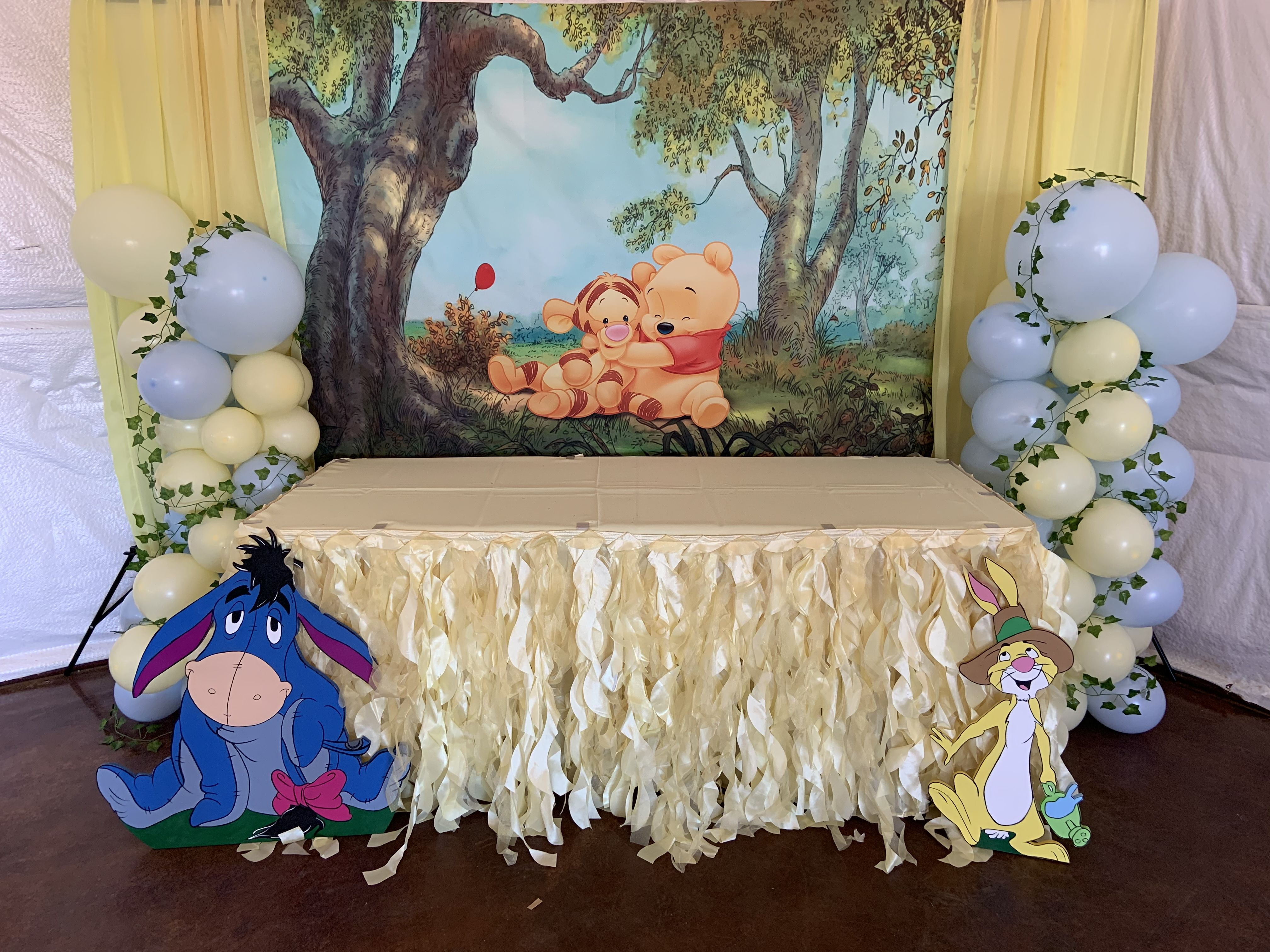 Winnie The Pooh Gift Table Winnie The Pooh Decor Baby Shower Backdrop Baby Shower Sash
