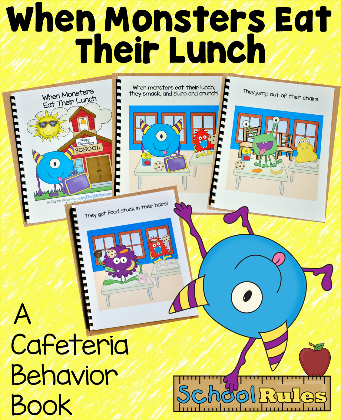 Those Silly Monsters Are At It Again Introduce And Review Cafeteria Behavior Expectations With