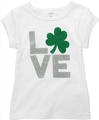 1ccce6905 Carter's St. Patrick's Day T-Shirt for Girls - Glitter Shamrock ...