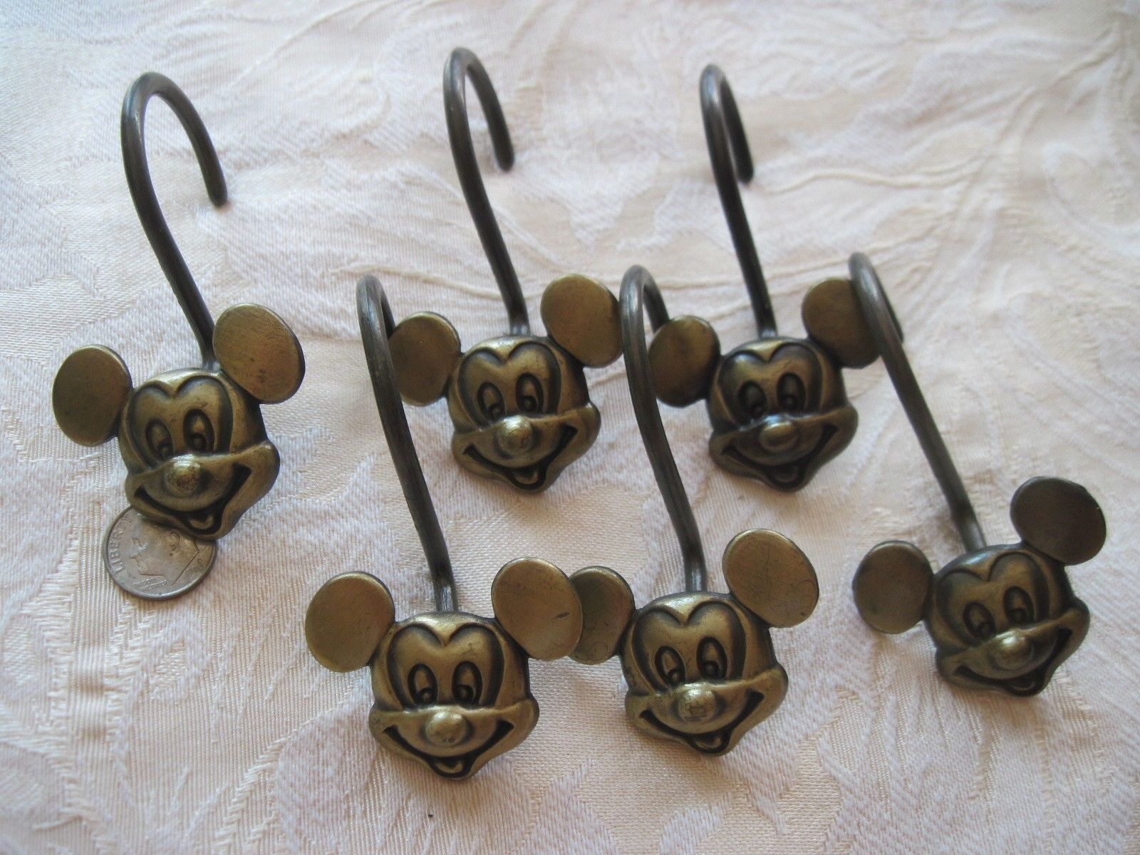 Mickey Mouse Head Shower Curtain Hooks