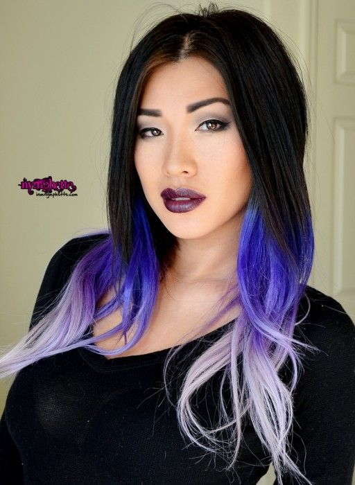 Sultry Smokey Eye Asian Fotd Makeup Mac Cyber Purple Ombre Hair