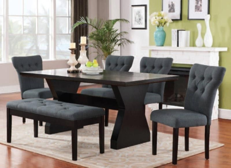 Acme Furniture - Effie 6 Piece Dining Table Set in Espresso ...