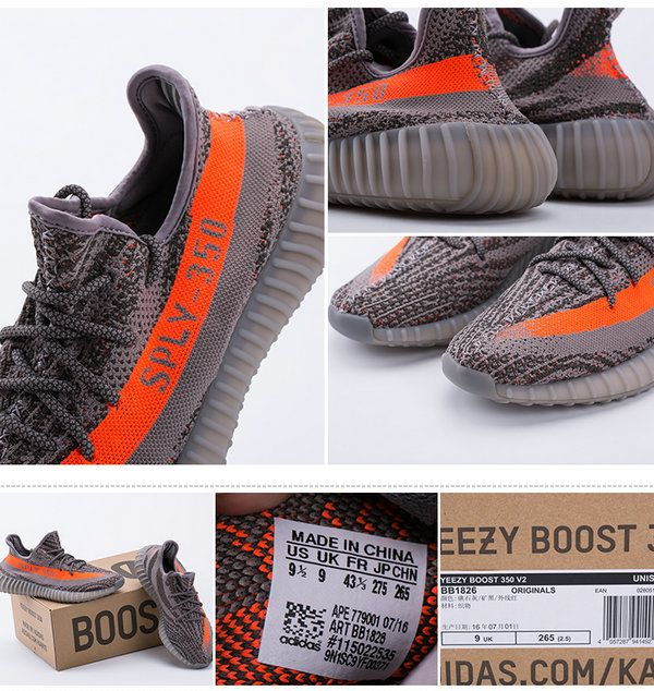 Adidas Yeezy 550 Boost SPLY 350 'Gray / Orange' HD Review From