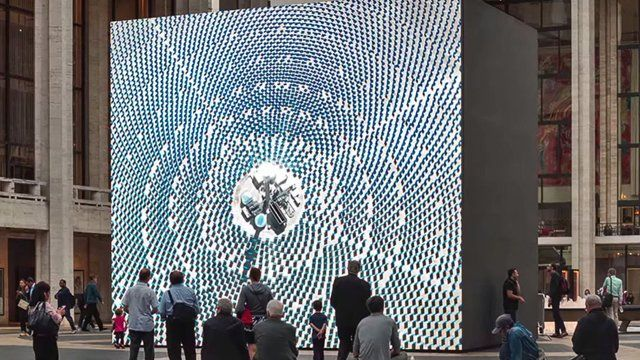 Art and digital signage intersect at NYC's Lincoln Center | Digital Signage Today