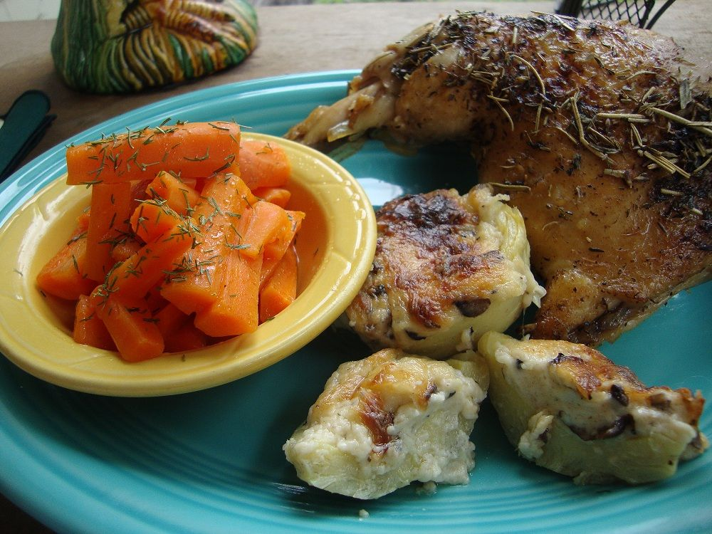 Here is a better picture of the chicken I like to make.  The recipe vertical is on the post below.