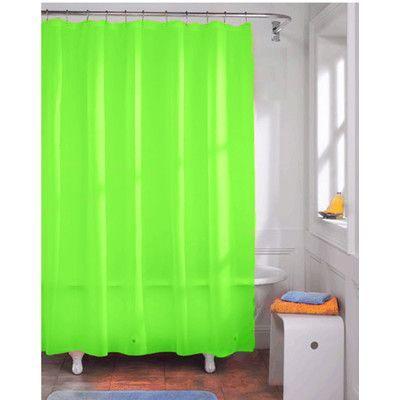 Kashi Home Vinyl Shower Curtain Liner Color Vinyl Shower