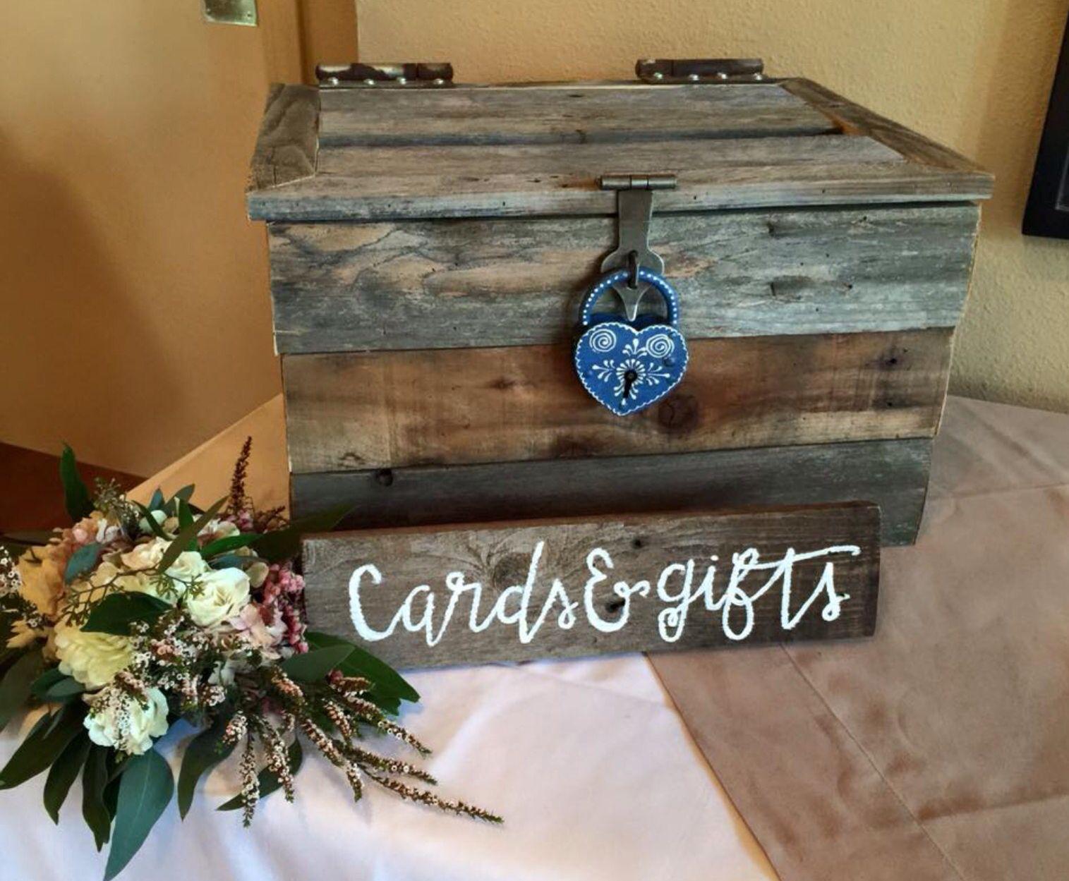 We Made The Card Box Antique Mexican Wedding Lock Card Box Wedding Wood Wedding Card Box Card Box Wedding Diy