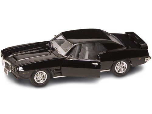 """Yat Ming Scale 1:18 - 1969 Pontiac Firebird Trans Am by Yat Ming. $34.99. From the Manufacturer                1969 Pontiac Firebird Hard Top. 1:18 scale diecast car. This 1969 Pontiac Firebird is an 11""""L x 4""""W x 3.25""""H diecast metal classic oldies car has opening hood/trunk/hood, folding seats, free wheels and workable steering. Highly detailed engine and components. Individually packed in a window box. This 69 Pontiac Firebird is manufactured by Yat Ming.                ..."""