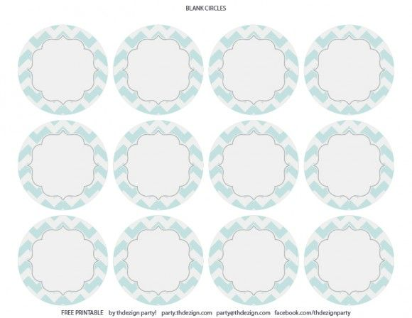 free chevron party printables from thdezign party party
