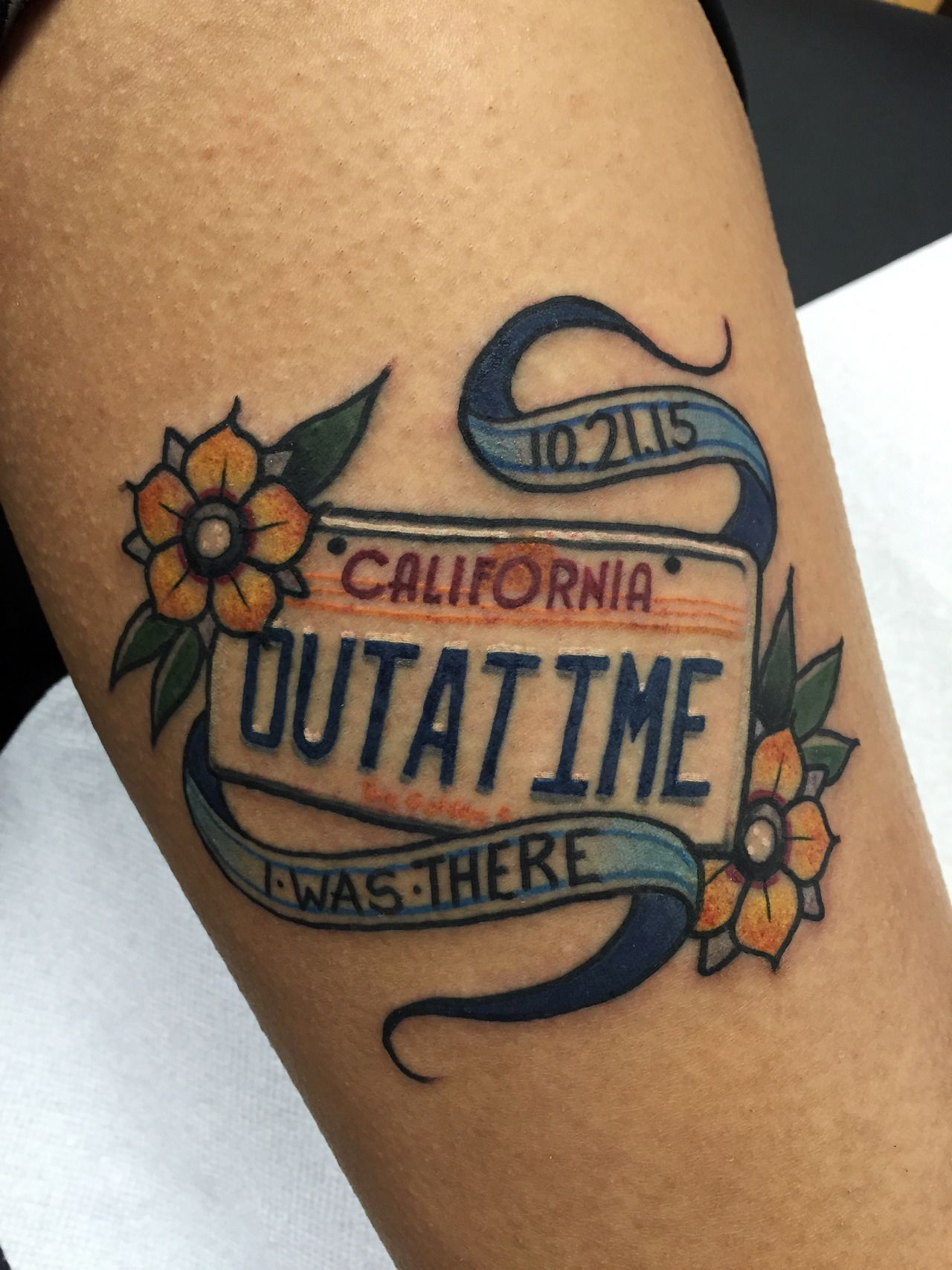 Fuckyeahtattoos back to the future tattoo done by robert for Tattoo pico rivera