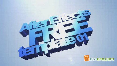 3D Text Intro Template - Project for After Effects | After Effects ...