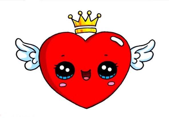 un corazón kawaii | Cute | Pinterest | Kawaii, Dibujos ...