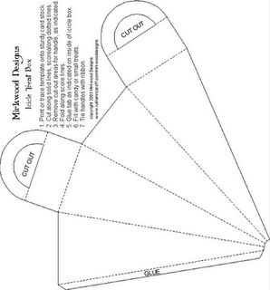 cone shaped template for candy cones origami and paper projects