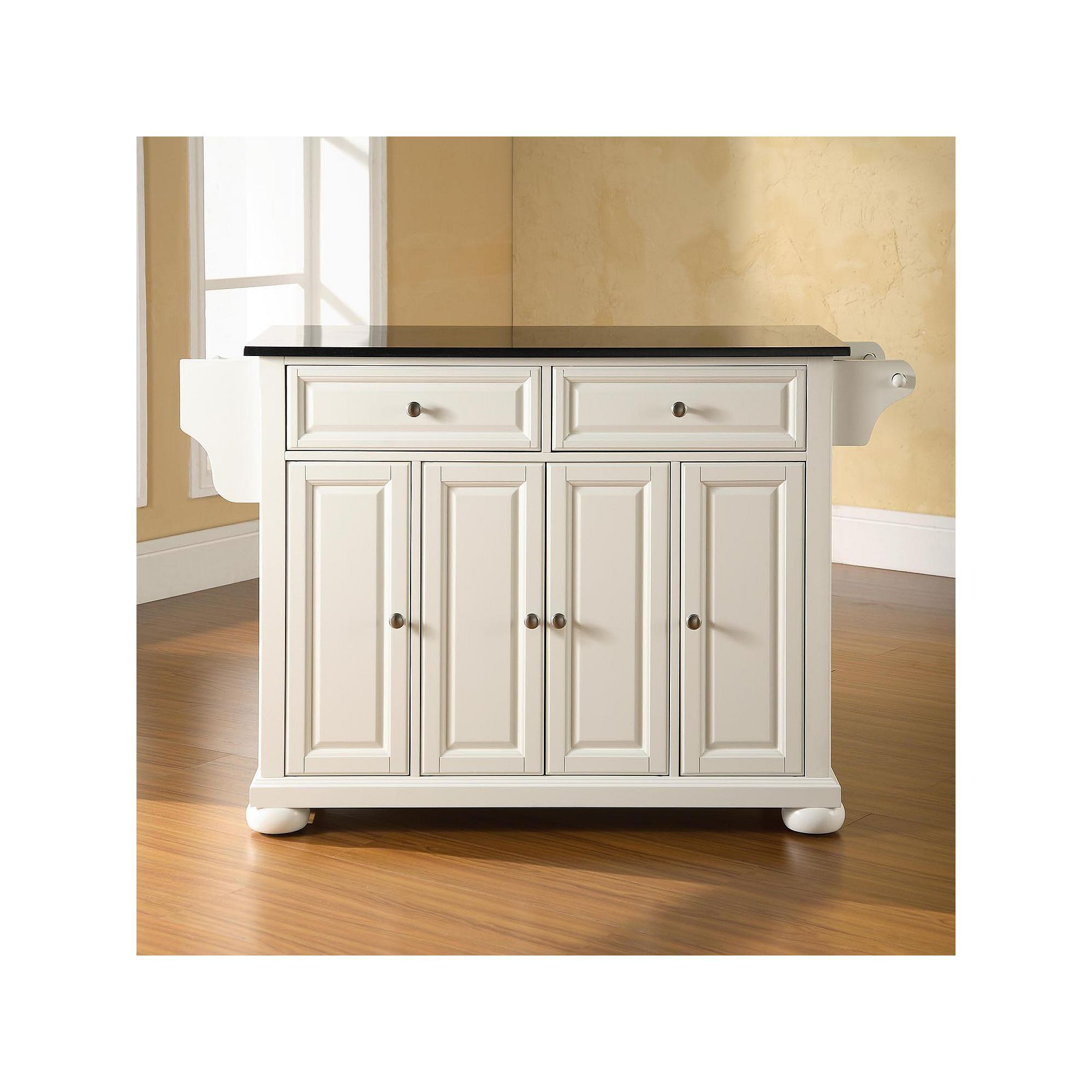 Crosley Furniture Alexandria Granite Kitchen Island Kitchen
