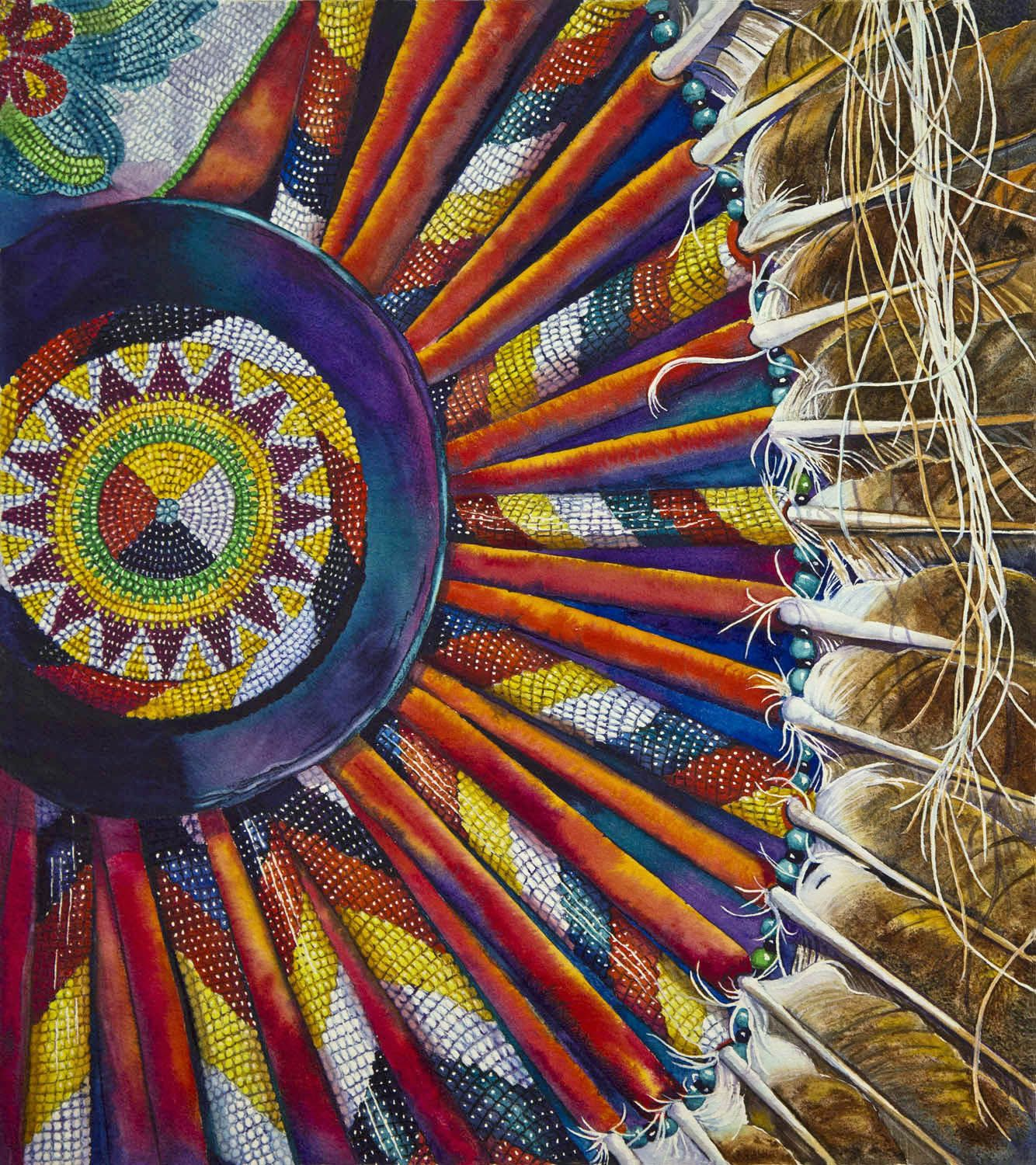 Medicine Wheel Bustle By Marcy Trahan