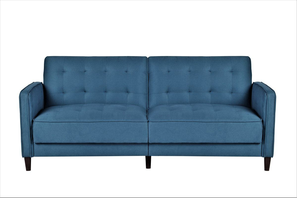 Dmitri Sofa Bed In Ocean Blue By Ebern Designs 17 Rated 4 1 Out Of 5 Stars 309 99 Vs 329 99 Fabric Sofa Bed Fabric Sofa Furniture