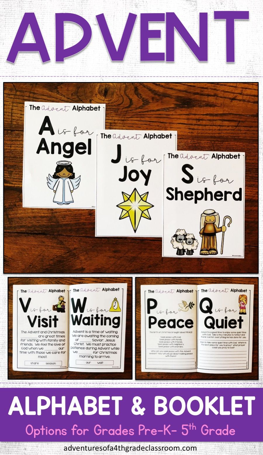 Advent Alphabet \u0026 Booklet   Elementary social studies lessons [ 1558 x 900 Pixel ]