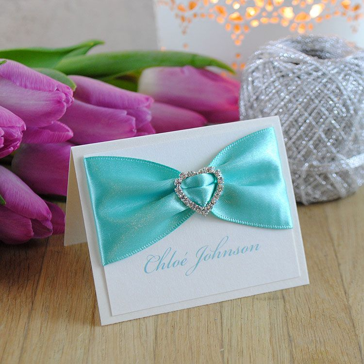 Exclusive handmade wedding place cards and gorgeous luxury wedding ...