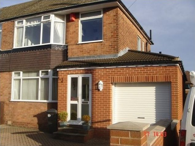 Superbe Sheffield, Single Storey Garage Extension With Rear Utility Room