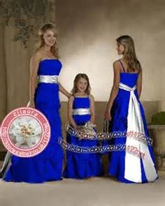 Royal Blue And Silver Wedding Solid White Or Ivory With Navy Blue Trim Microfiber Tw Blue Wedding Dresses Blue Wedding Dress Royal Blue Themed Wedding