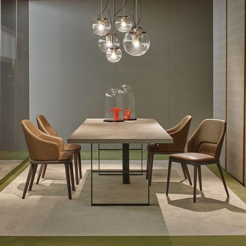 Frag Atelier Rectangular Dining Table Modern Room In Natural Colours Harrogate Interiors