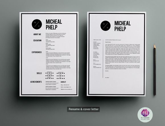 CV template cover letter template Available here https