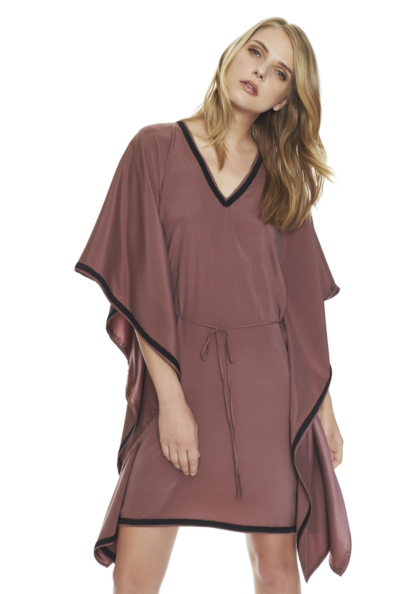 Sena silk kaftan dress in mauve kaftans pinterest silk kaftan