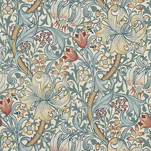 Den är magisk den här tapeten!  Slate / Manilla - 210401 - Golden Lily - Archive Wallpaper - Morris & Co Wallpaper Morris & Co http://www.amazon.co.uk/dp/B00Q8UGP9Q/ref=cm_sw_r_pi_dp_KREzvb00RBSVH