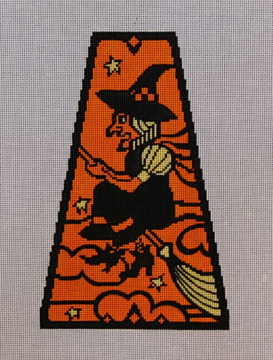 Vintage Halloween Panel-Witch 18 mesh 5x8 in. Reg. $81, Trunk Show $64.80