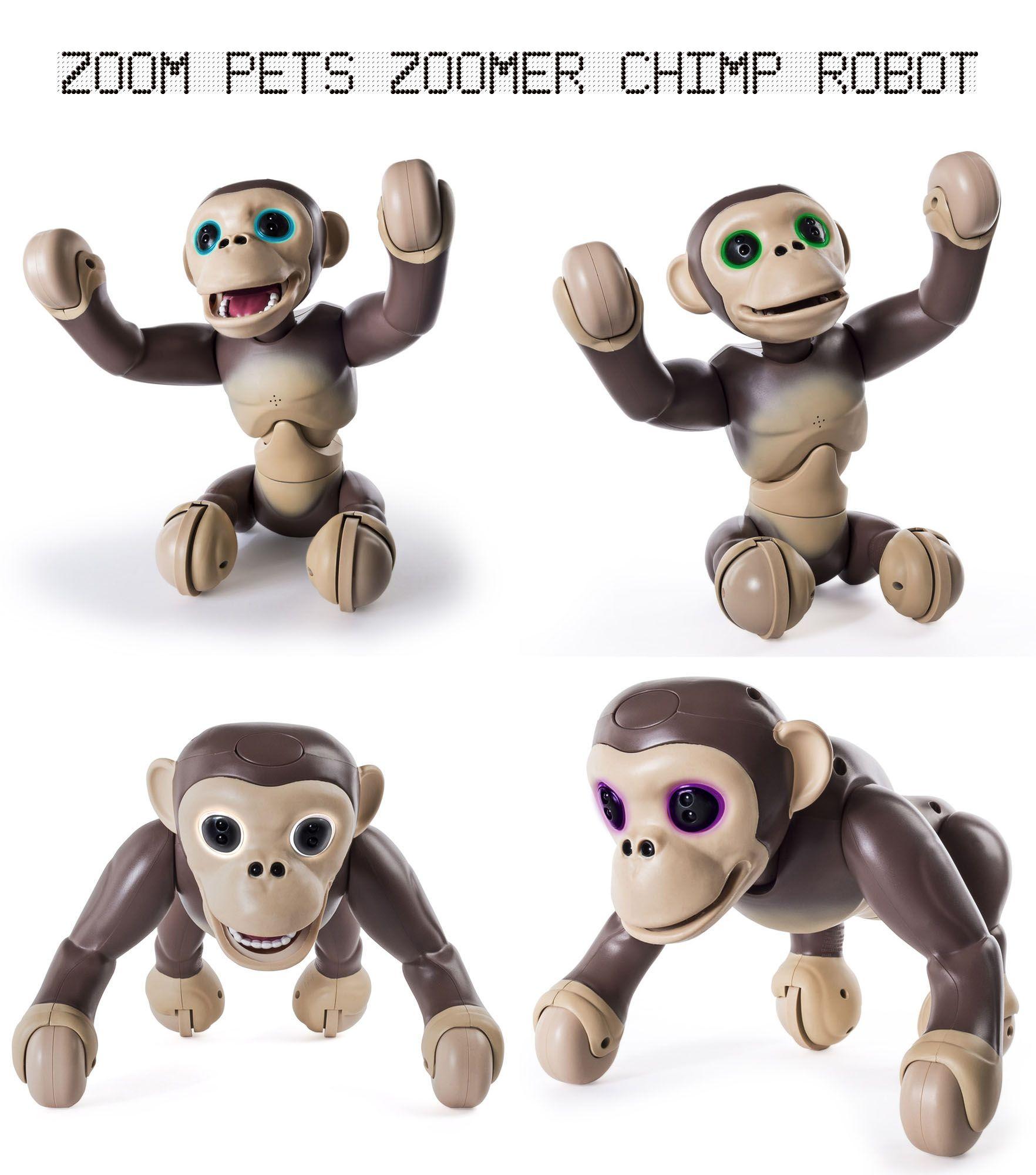 Zoom Pets Zoomer Chimp Robot ad toys chimp Chimpanzee