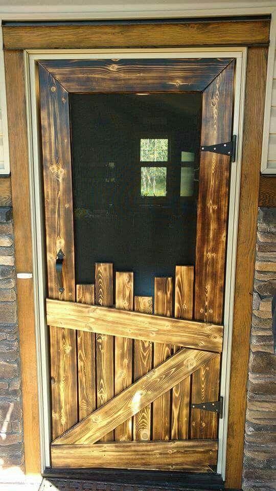 Pallet Screen Door Woodworking In 2019 Barn Wood Decor