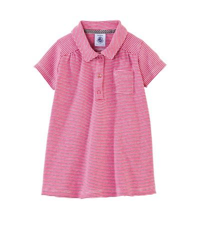 Baby girl milleraies striped cotton polo shirt dress